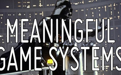 Creating meaningful game systems