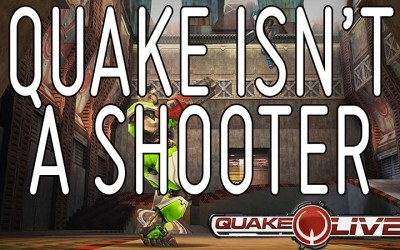 Shooting isn't the key mechanic of Quake